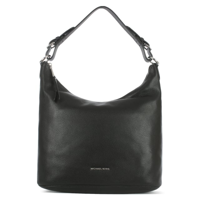 Lupita Large Black Leather Hobo Bag