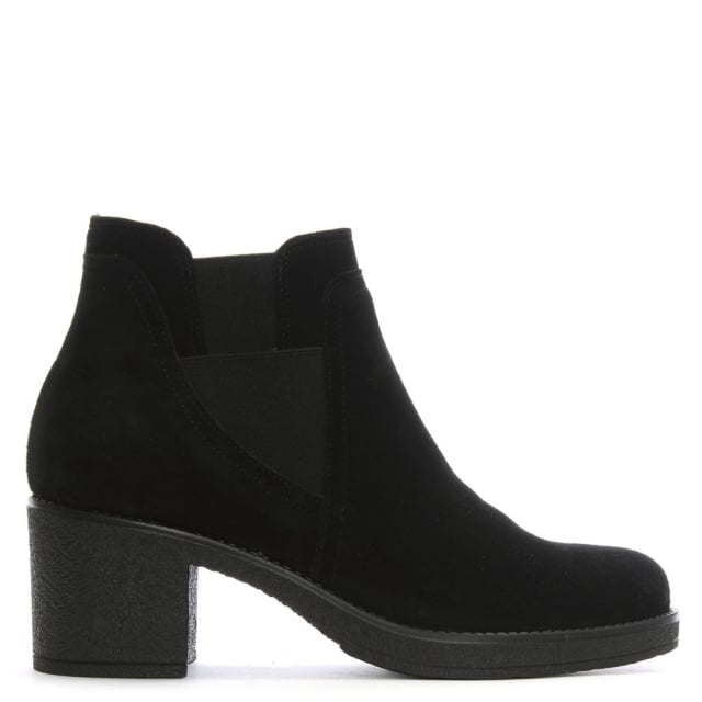 Luppy Black Suede Chelsea Boots