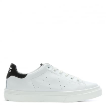 Luppy Leather Black Contrast Tongue Trainers