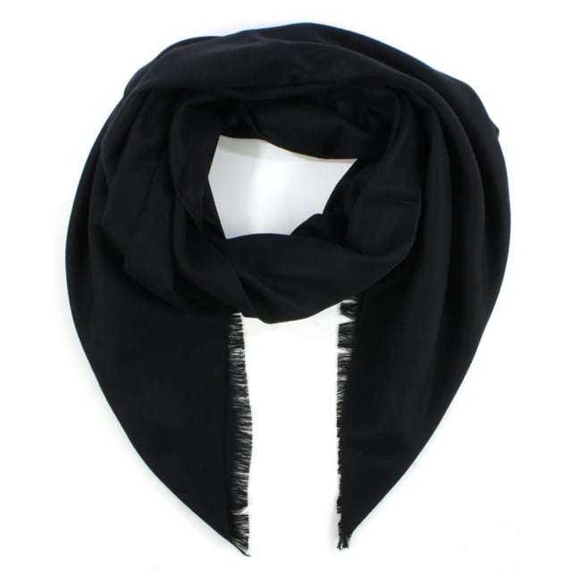 Luxe Silk Mix Black Scarf