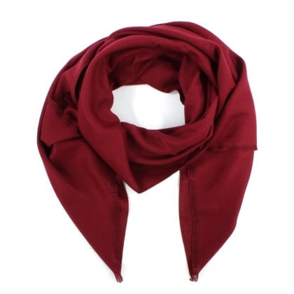 Luxe Silk Mix Burgundy Scarf