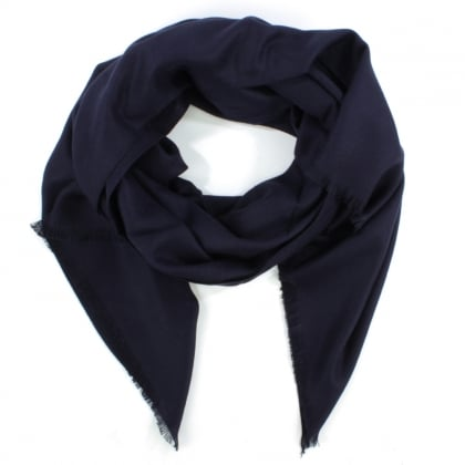 Luxe Silk Mix Navy Scarf