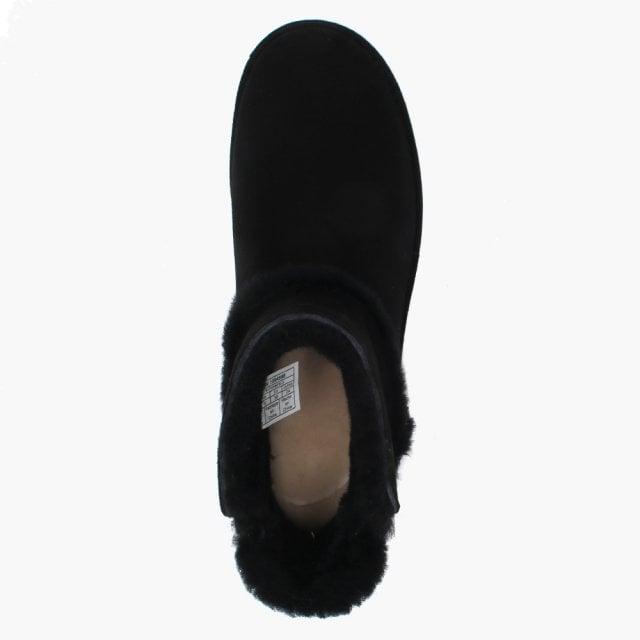 64ec8e750ea Luxe Spill Seam Mini Nero Suede Ankle Boots