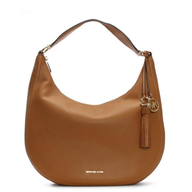291bc935db05 Michael Kors Lydia Large Acorn Tumbled Leather Hobo Bag