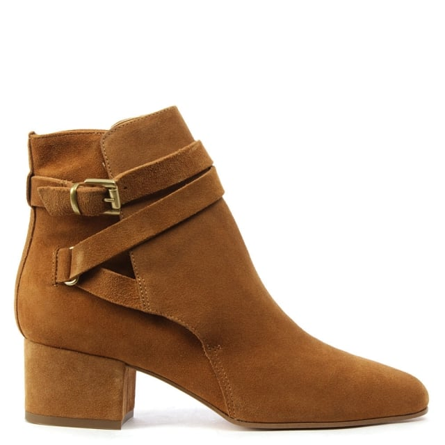 Lyndhurst Tan Suede Ankle Strap Boot