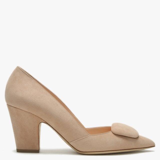 9bb6e2f3eb6c Rupert Sanderson Mabel Nude Suede Court Shoes