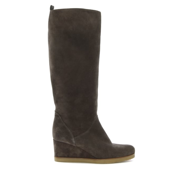 madaus-taupe-suede-wedge-knee-boots