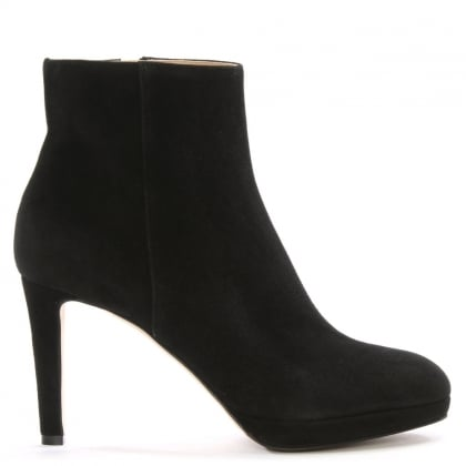 Madison 75 Black Suede Ankle Boots