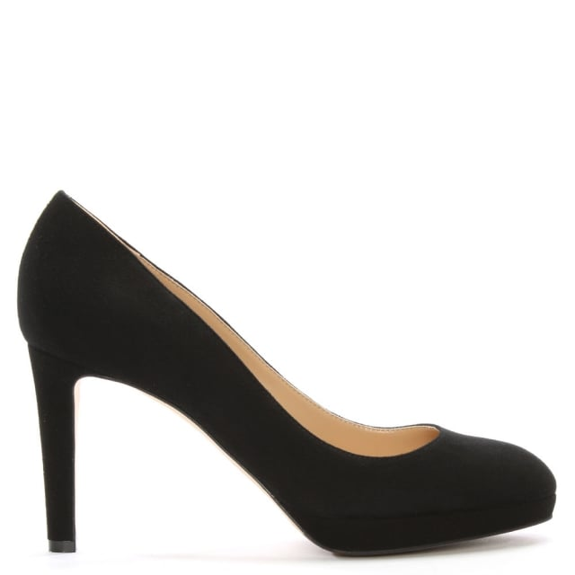 Madison 75 Black Suede Platform Court Shoes