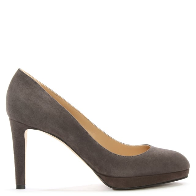 Madison 75 Grey Suede Platform Court Shoes