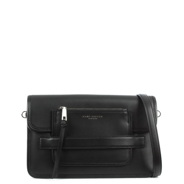 Madison Black Leather Large Shoulder Bag