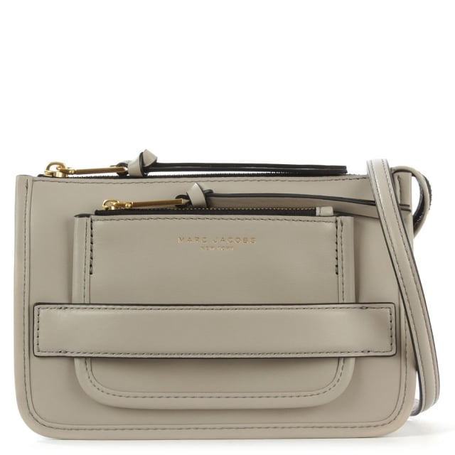 Madison Taupe Leather Cross-Body Bag
