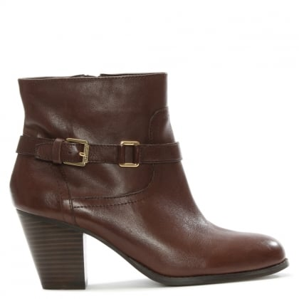Lauren by Ralph Lauren Maeve Brown Leather Ankle Boot