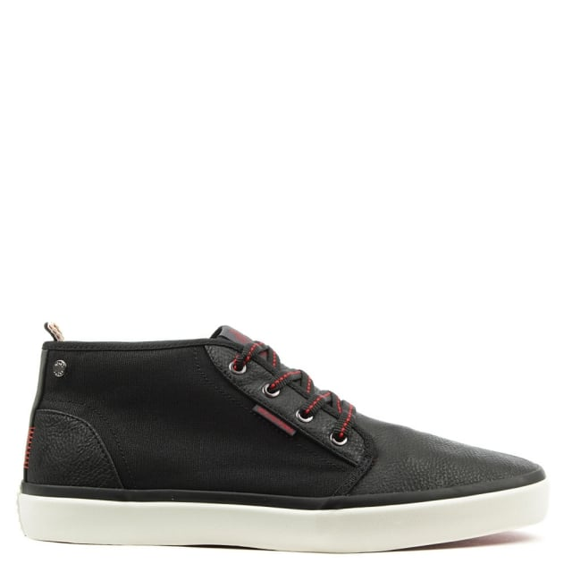 Major Black Contrast High Top Trainer