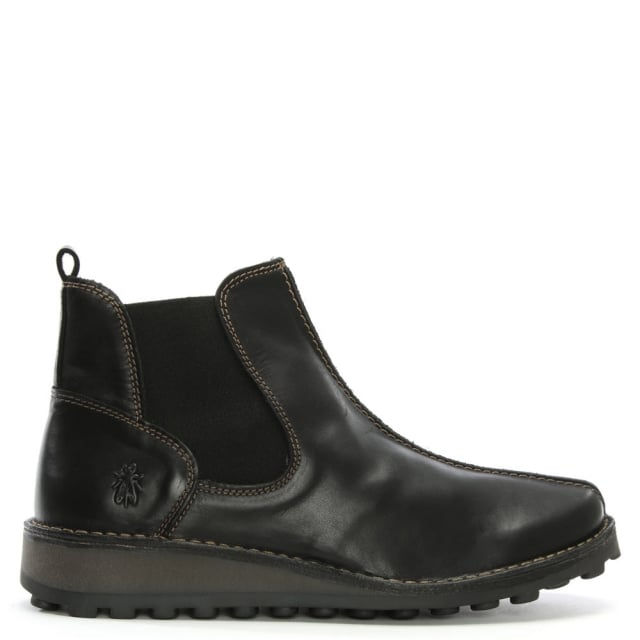 Maps Black Leather Chelsea Boots