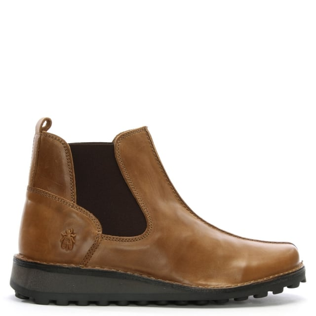 Maps Tan Leather Chelsea Boots