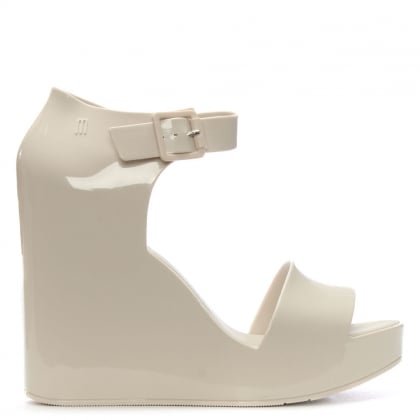 Mar Ivory Ankle Strap Wedge Sandals