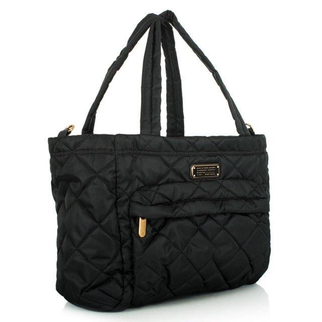 Crosby Eliza Black Quilted Nylon Baby Bag