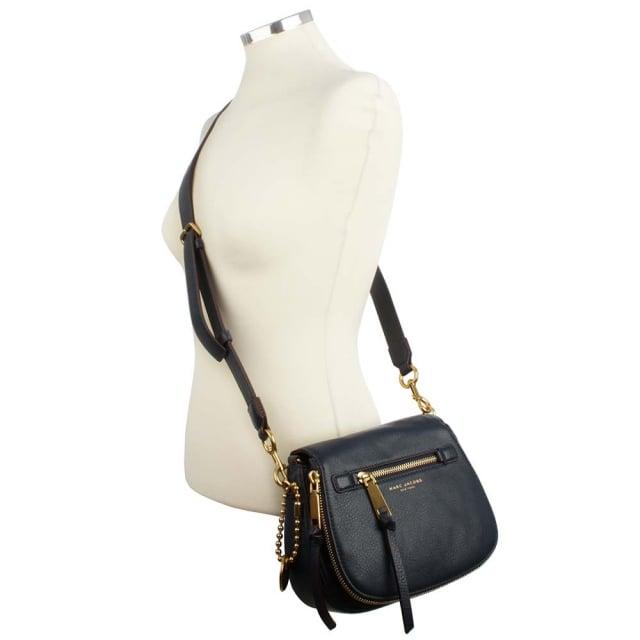 7af454ed716 Marc Jacobs Recruit Navy Blue Leather Saddle Bag