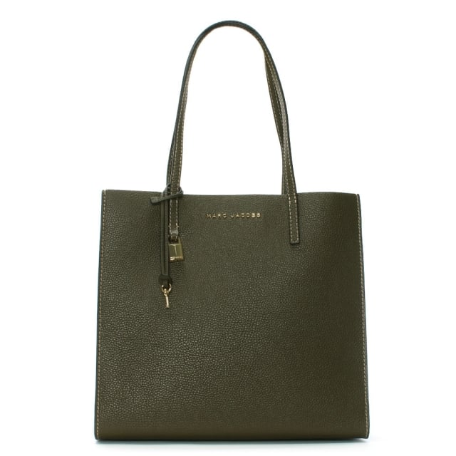 The Grind Lichen Leather Shopper Tote Bag