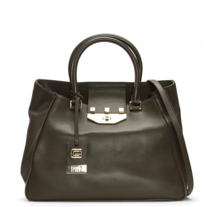Marianne Taupe Leather Tote Bag