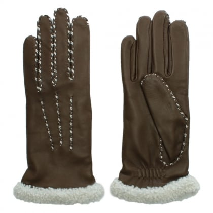 Marie Louise Brown Leather Gloves