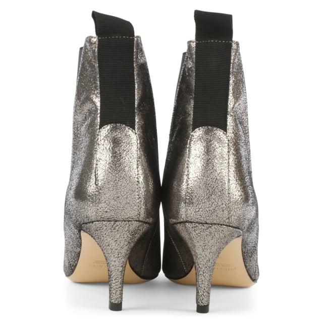 f439035cbf Phio Myo Marina Silver Metallic Leather Kitten Heel Chelsea Boot