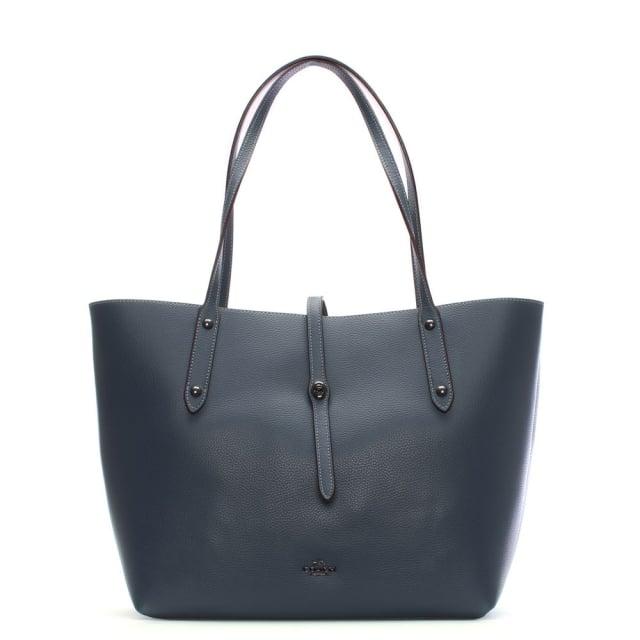 market-polished-dark-denim-marigold-leather-tote-bag