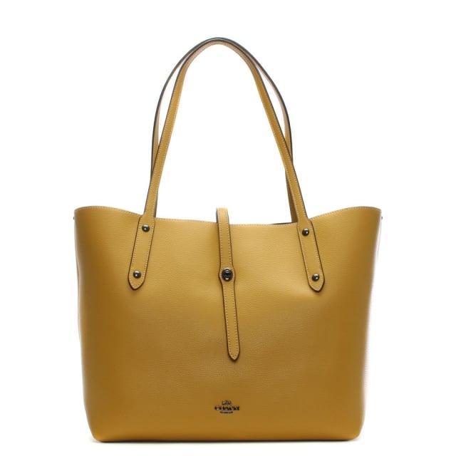 market-polished-flax-leather-tote-bag
