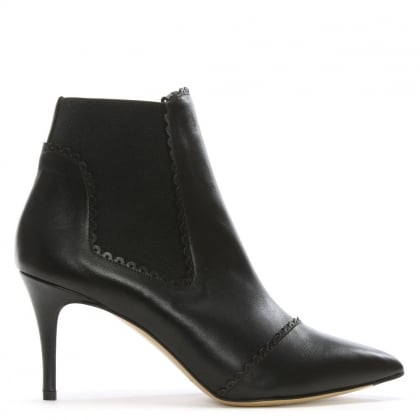 Maryon Black Leather Ankle Boot
