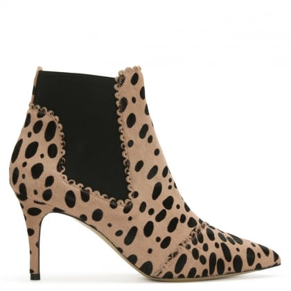 Maryon Leopard Calf Hair Ankle Boot