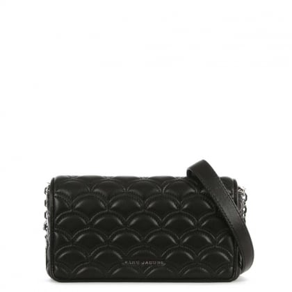 Marc Jacobs Matelasse Black Leather Quilted Wallet On Chain