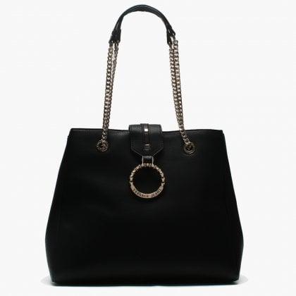 9b2fe4c0b5 Matua Black Circular Logo Slouchy Shoulder Bag. Sale. Versace Jeans ...