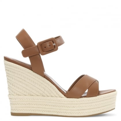 Maui 75 Tan Leather Wedge Sandal