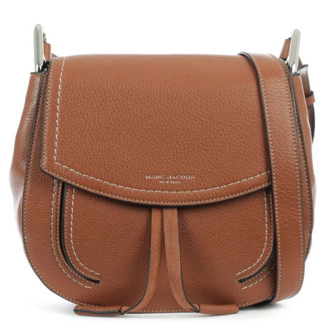 Maverick Cognac Leather Shoulder Bag