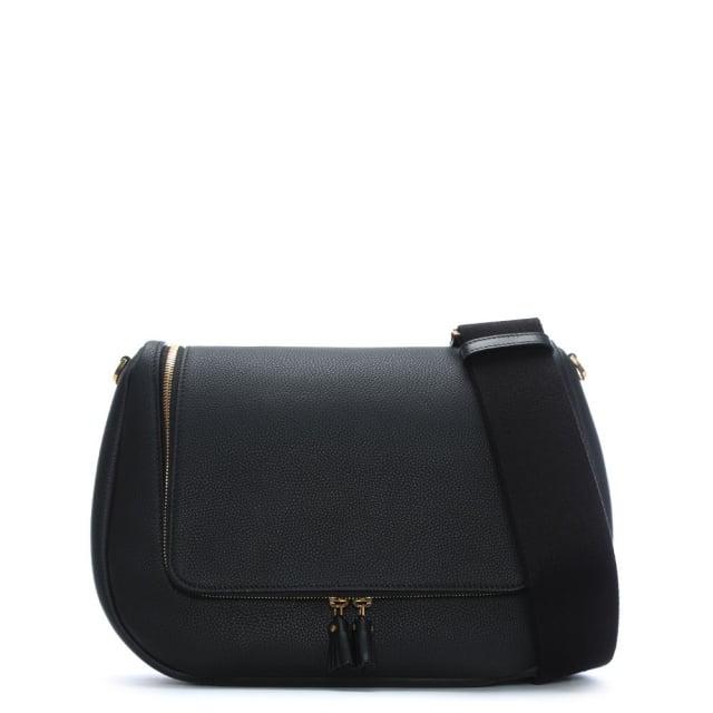 Anya Hindmarch Maxi Vere Black Leather Satchel Bag