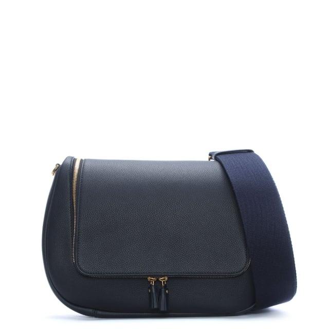 Anya Hindmarch Maxi Vere Marine Leather Satchel Bag
