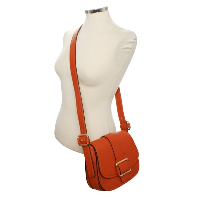 24810b2aec0 Michael Kors Maxine Medium Orange Leather Saddle Bag