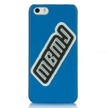 MBMJ Blue Patent Patch iPhone 5 Case