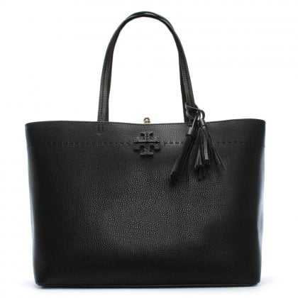 McGraw Black & Royal Blue Leather Tote Bag