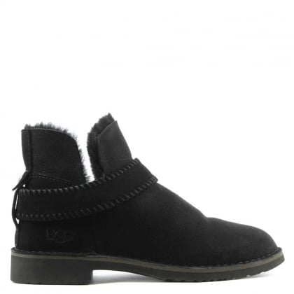 Mckay Black Leather Twinface Ankle Boot