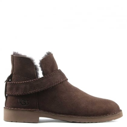 Mckay Chocolate Leather Twinface Ankle Boot