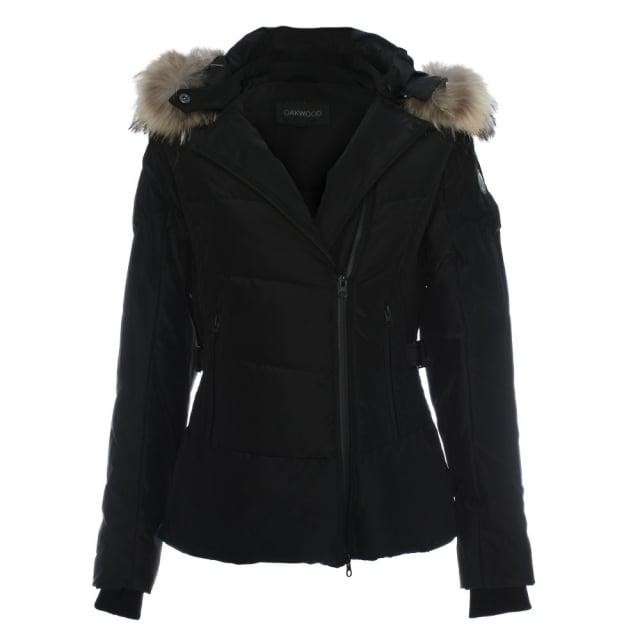 Oakwood Medaille Black Padded Fur Trim Hooded Jacket