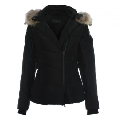 Medaille Black Padded Fur Trim Hooded Jacket