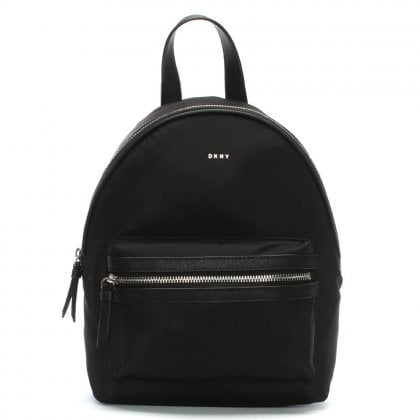 Medium Black Nylon Backpack