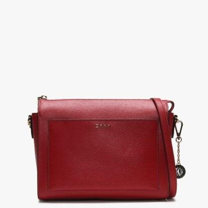 ba2573570d39 Medium Bryant Red Leather Box Cross-Body