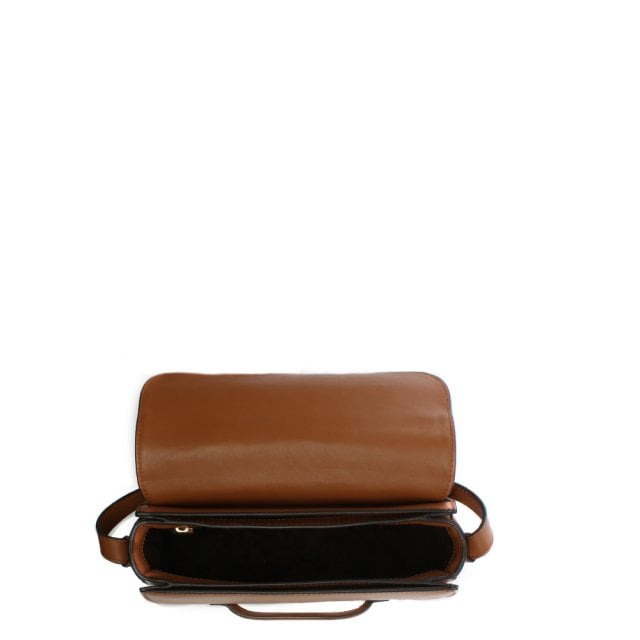 e5bd75d1c481 Michael Kors Medium Cary Acorn Leather Saddle Bag