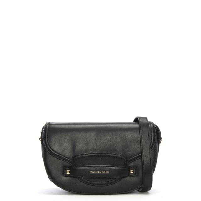 d4b519d65dff Michael Kors Medium Cary Black Leather Saddle Bag