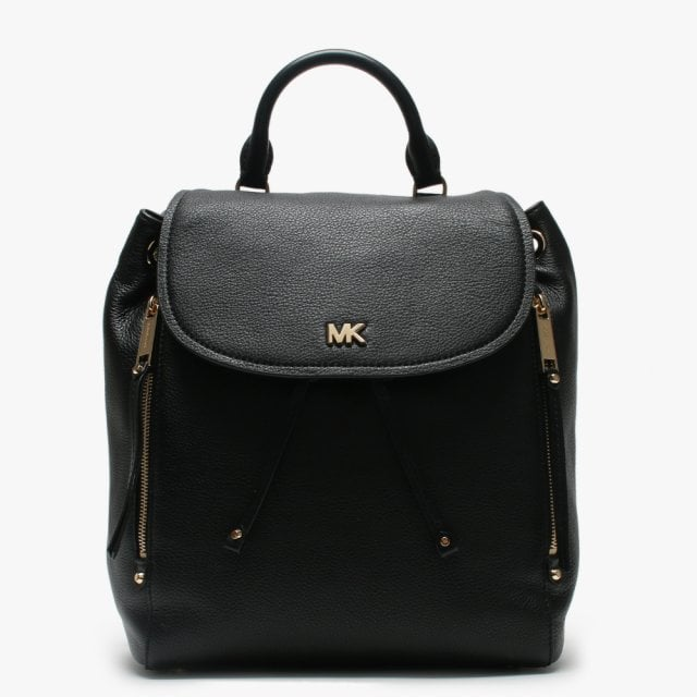 e7b27fde71b1b8 Michael Kors Medium Evie Black Leather Backpack