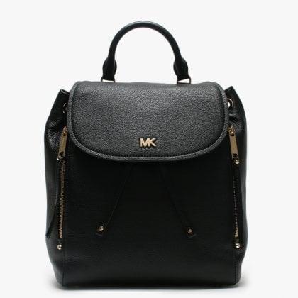 1523e732605ec2 Medium Evie Black Leather Backpack. Free Standard UK Delivery. Michael Kors  ...